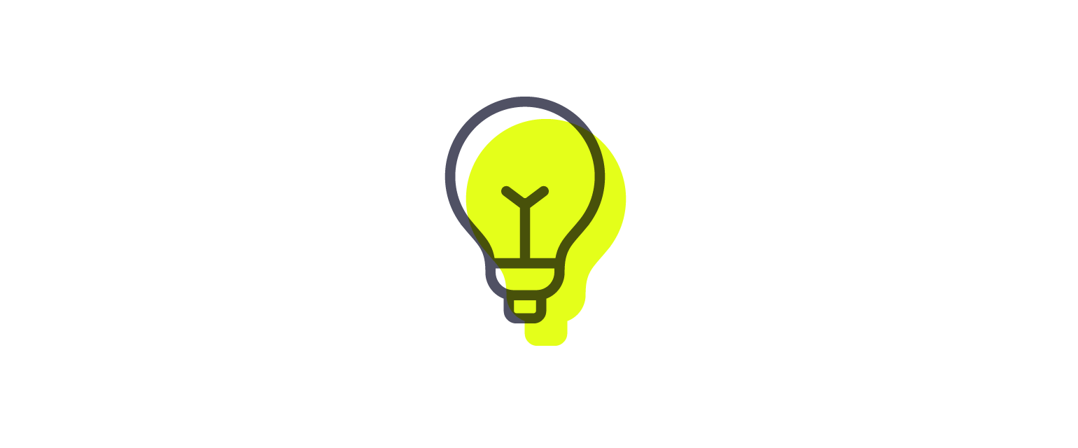 a light bulb graphic